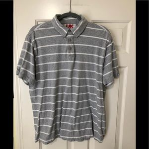 French connection designer gray polo L UK 🇬🇧
